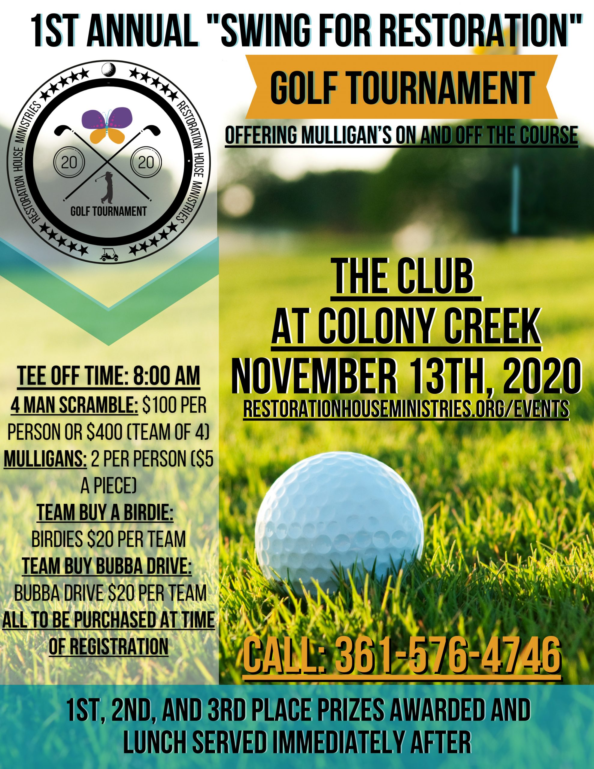 1st Annual Swing for Restoration Golf Tournament